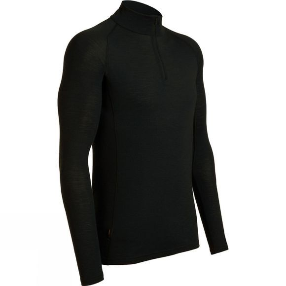 Icebreaker Mens Everyday Long Sleeve Zip Black