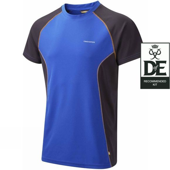 Craghoppers Mens Vitalise Base T Strong Blue/Black Pepper