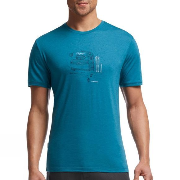 Mens Tech Tee Lite Short Sleeve Crewe Basecamp Graphic