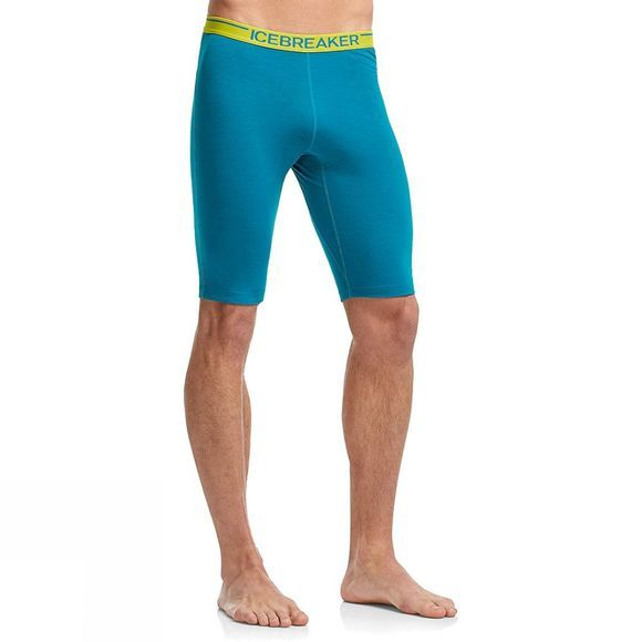 Icebreaker Mens Zone Shorts Alpine/Chartreuse