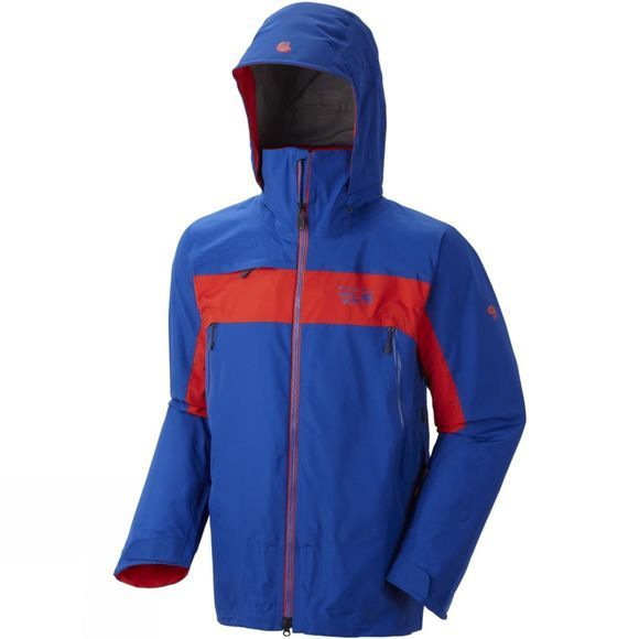 Mountain Hardwear Men's Compulsion 3L Jacket Azul/ Hot Rod