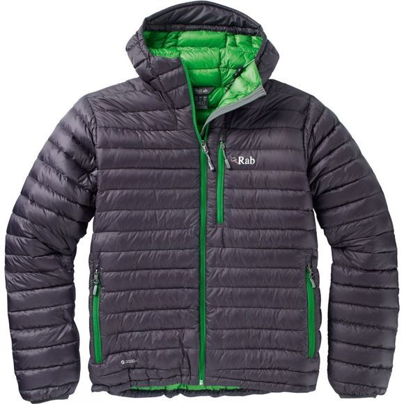 Rab Mens Microlight Alpine Jacket Beluga/Kiwi