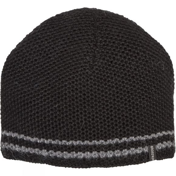 Ayacucho Mens Twin Stripe Beanie Light Grey/Black