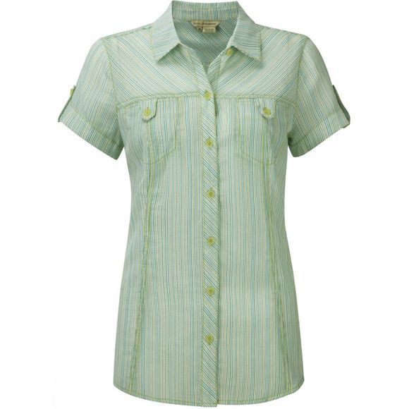 Womens Camper Stripe Cap Sleeve Top