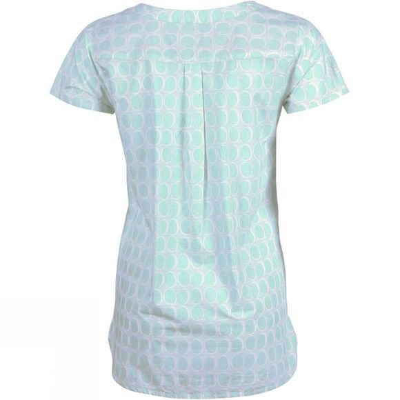 Brakeburn Womens Circle Shirt Aqua Multi