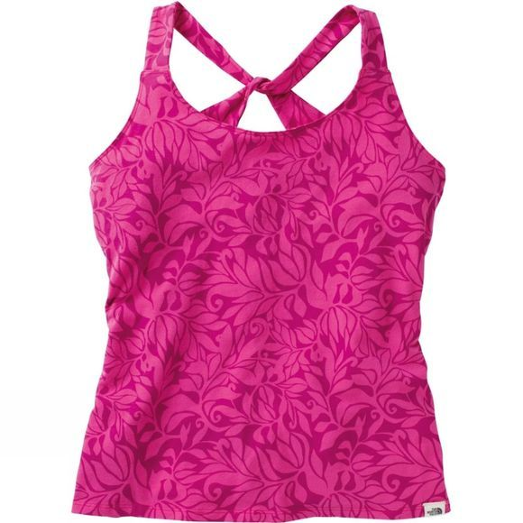The North Face Womens Gentle Stretch Cami Linaria Pink Vine Print