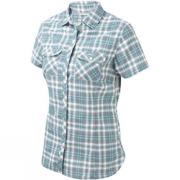 Craghoppers Womens Ellema Short Sleeve Shirt Lagoon Combo
