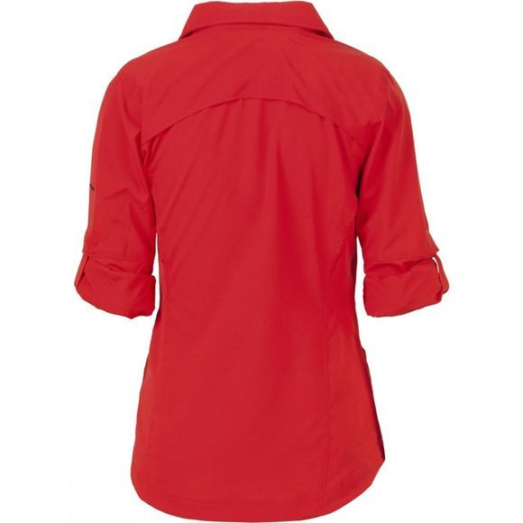 Columbia Womens Silver Ridge Long Sleeve Shirt Red Hibiscus