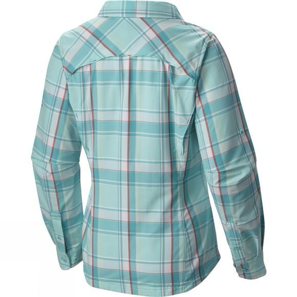 Columbia Womens Silver Ridge Plaid Long Sleeve Shirt Geyser Dobby