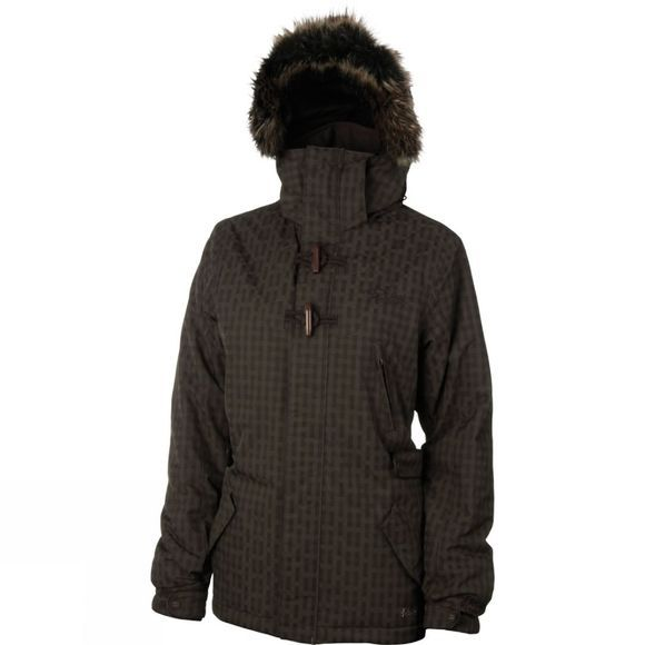Protest Womens Elipse Jacket Brown Earth