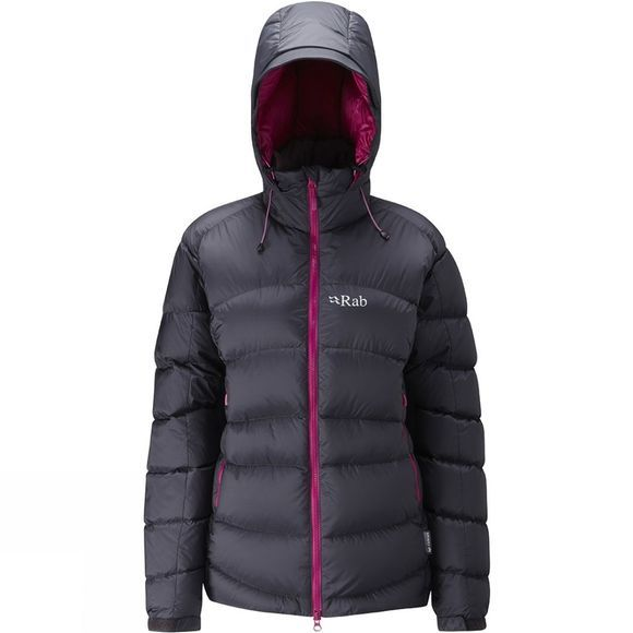 Rab Women's Ascent Jacket Beluga/Peony