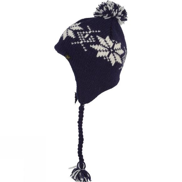Ayacucho Womens Earflap Hat Navy/Cream