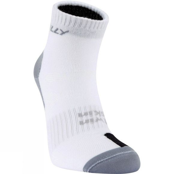 Hilly Mens Twin Skin Anklet Sock White / Grey / Black