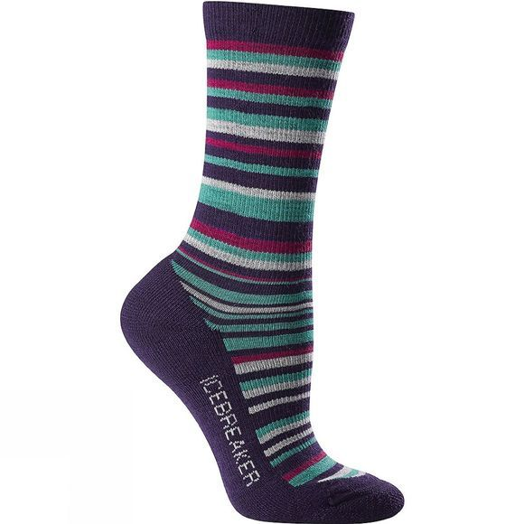 Icebreaker Womens City Lite Crew Sock Lotus / Magenta