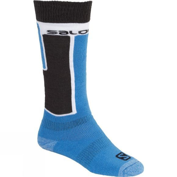 Salomon Womens Elios 2 Ski Sock (2 pack) Boss Blue/Black Black/Wild Berry