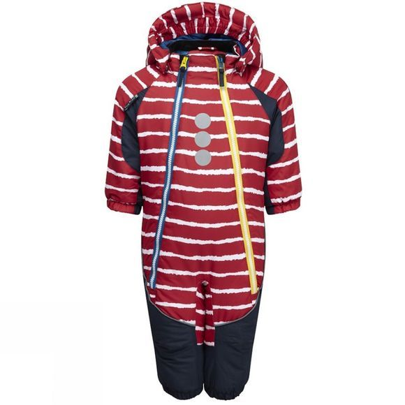 Kozi Kidz Kids Snowflake Snowsuit Red Stripe
