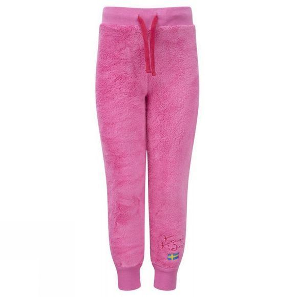 Kozi Kidz Kids CuddleBear Fleece Trousers Pink/Red