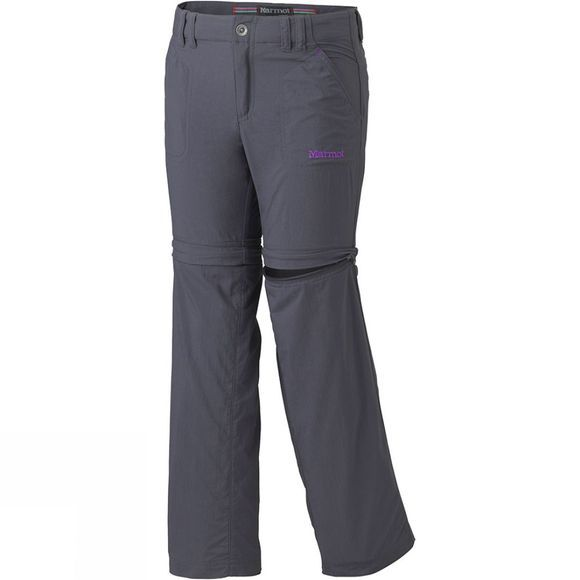 Marmot Girls Lobo's Convertible Pants Dark Steel