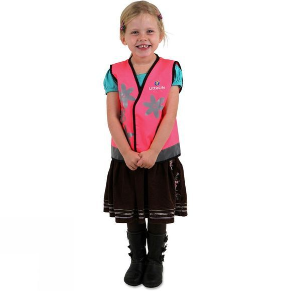 LittleLife Kids Reflective Safety Vest Butterflies