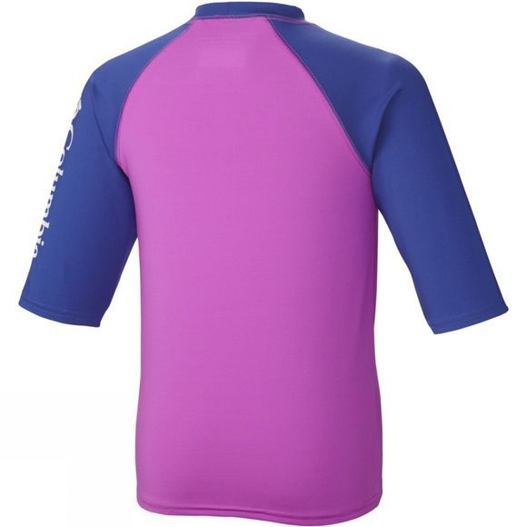 Columbia Youths Mini Breaker II Short Sleeve Sunguard Top Age 14+ Foxglove / Light Grape