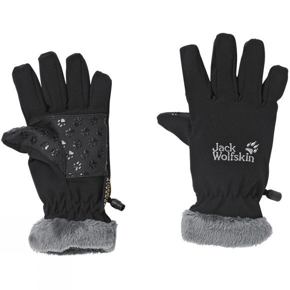 Jack Wolfskin Kids Softshell Highloft Glove Black