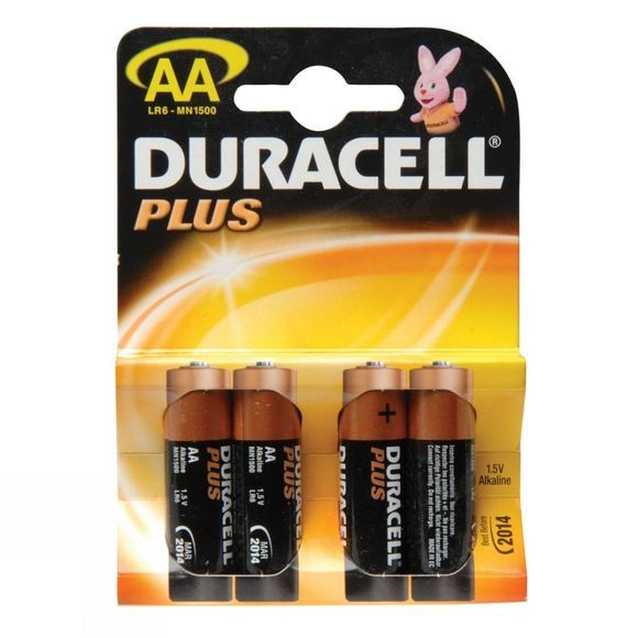 Duracell Plus AA 1.5V Battery x 4 .