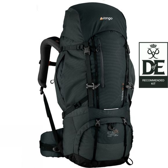 Vango Sherpa 70+10 Rucksack Shadow Black