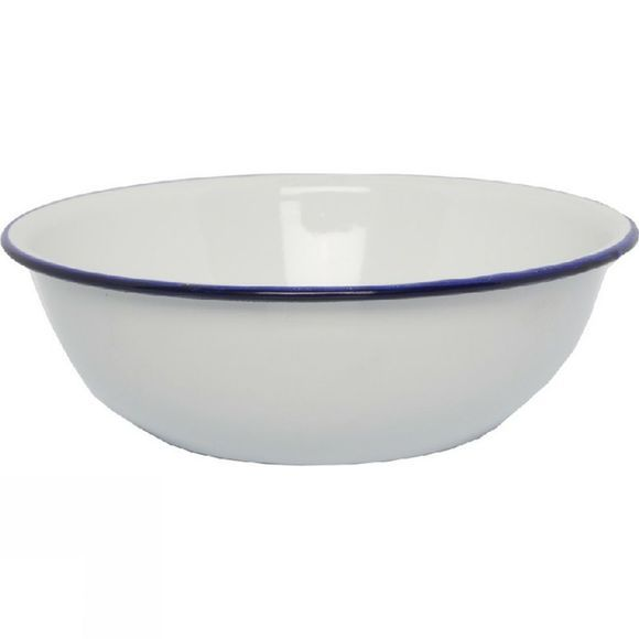 Strider Enamel Bowl 16cm deep  White