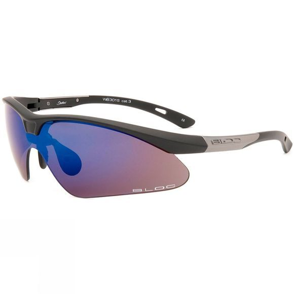 Bloc Shadow Sunglasses Matt Black/Blue Mirror