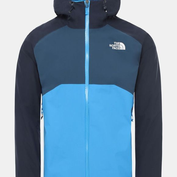 The North Face Mens Stratos Jacket Clear Lake Blue-Urban Navy-Blue Wing Teal