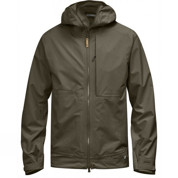Fjallraven Mens Abisko Eco-Shell Jacket Tarmac