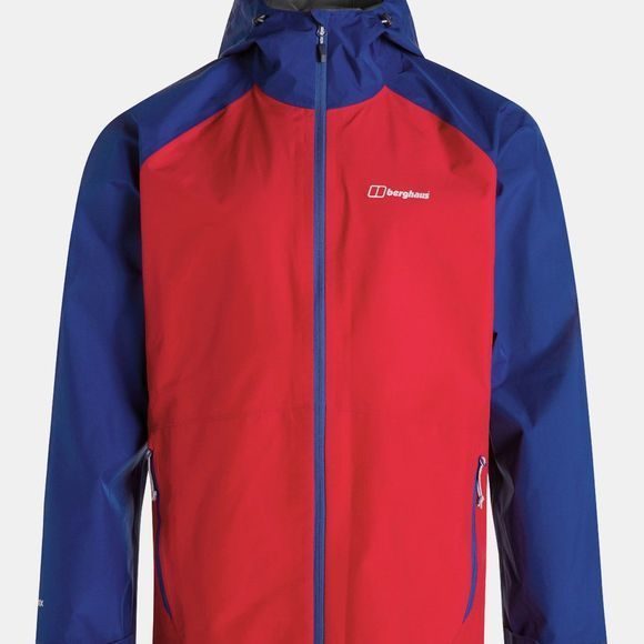 Berghaus Mens Paclite 2.0 Jacket Haute Red/Sodalite Blue