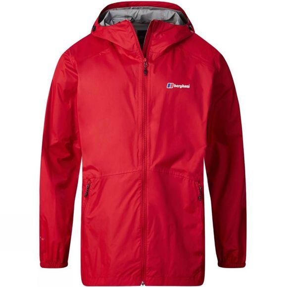 Berghaus Mens Deluge Light Jacket Haute Red