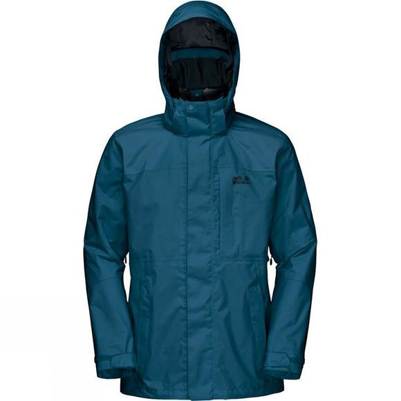 Jack Wolfskin Mens Brookays Range Flex Jacket Moroccan Blue