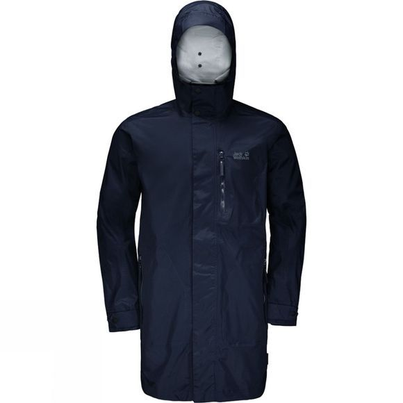 Jack Wolfskin Mens Crosstown Raincoat Night Blue
