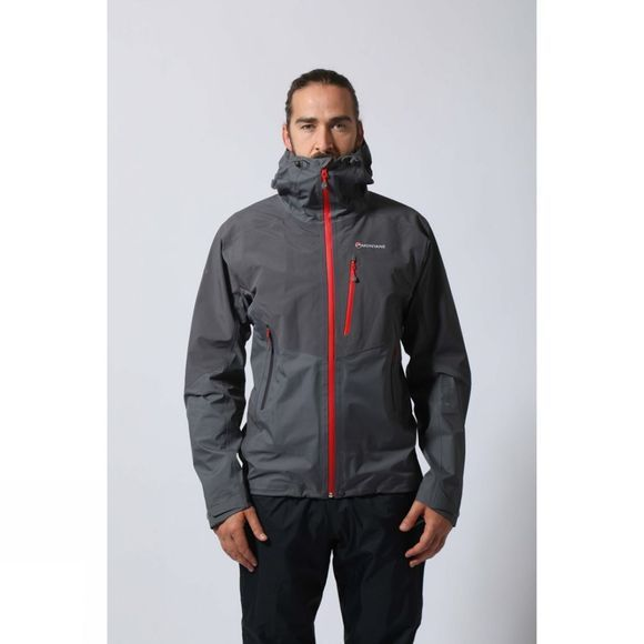 Montane Mens Ajax Jacket Mercury/Alpine Red
