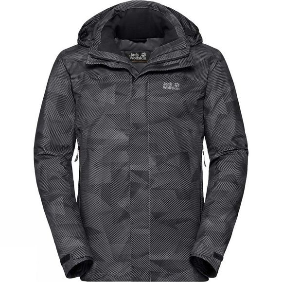 Jack Wolfskin Mens Mountain Edge Jacket Black All Over