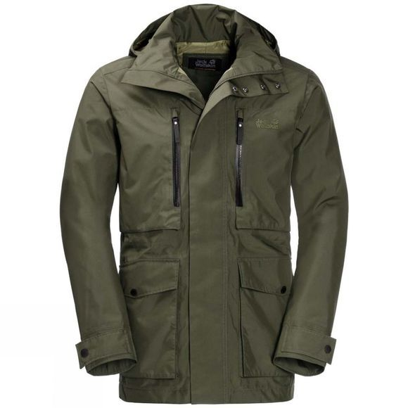 Jack Wolfskin Mens Bridgeport Jacket Woodland Green