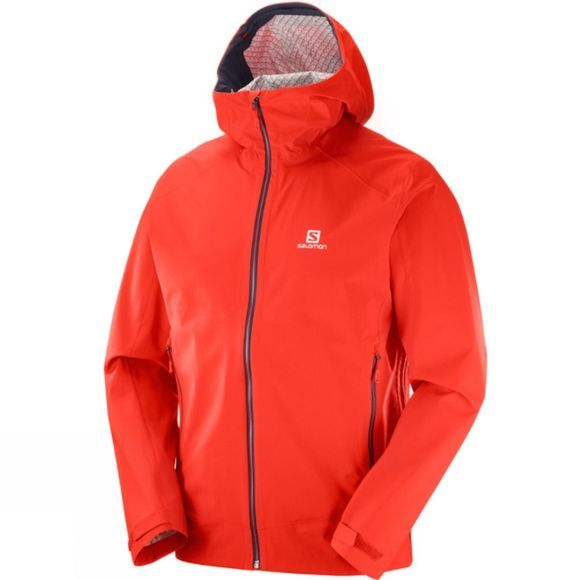 Salomon Mens La Cote Stretch 2.5L Jacket Fiery Red