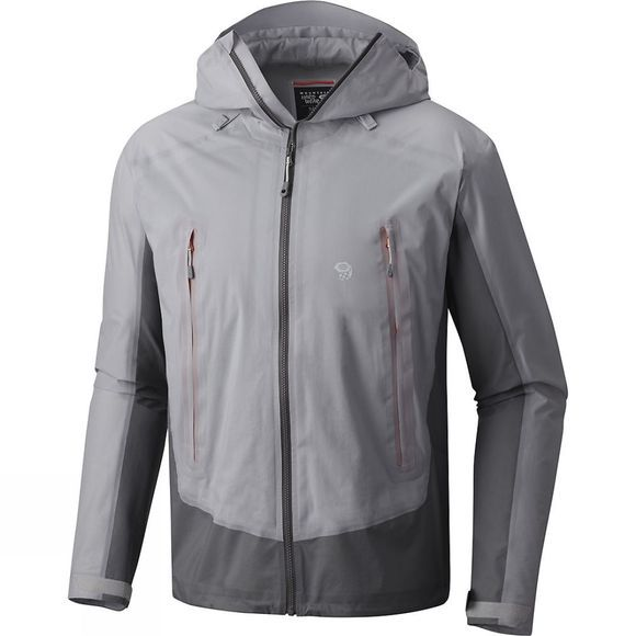 Mountain Hardwear Mens Quasar Lite II Jacket Grey Ice/ Manta Grey