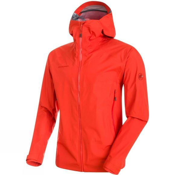 Mammut Mens Meron Light HS Jacket Dark Orange