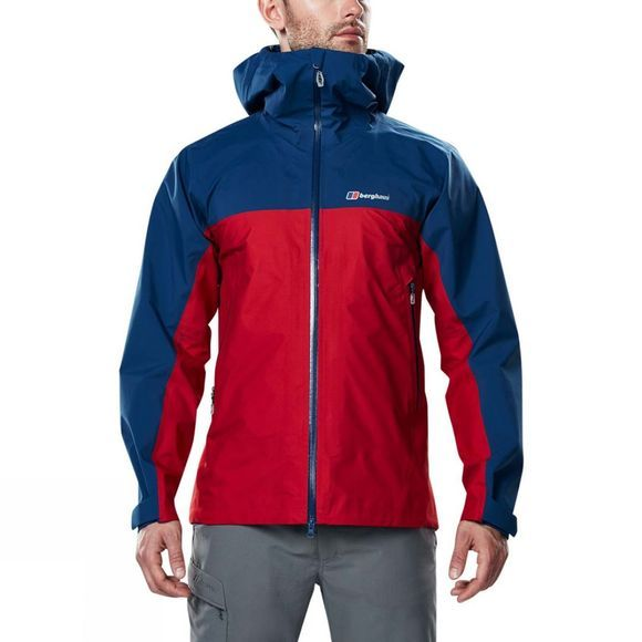 Berghaus Mens Cape Wrath Jacket Haute Red/Deep Water