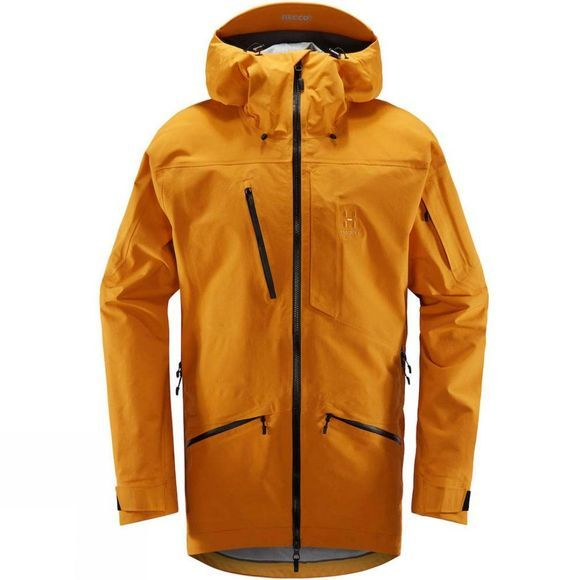 Haglofs Mens Nengal 3L Proof Parka Desert yellow/true black