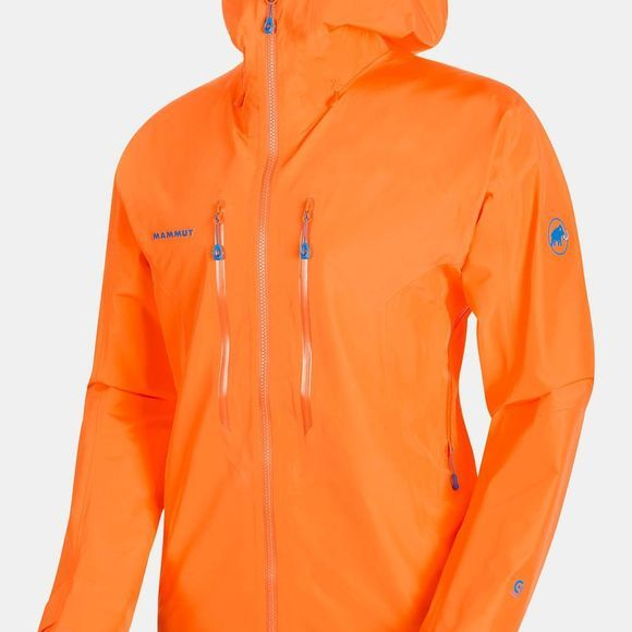 Mammut Mens Nordwand Advanced Hardshell Hooded Jacket Sunrise