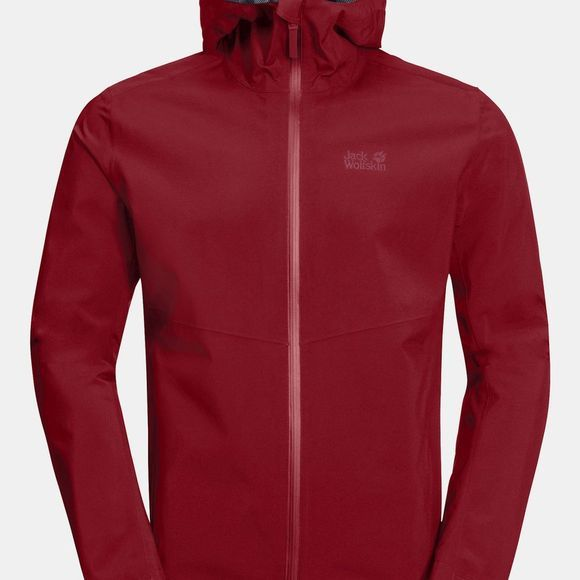 Jack Wolfskin Mens JWP Shell Dark Lacquer Red