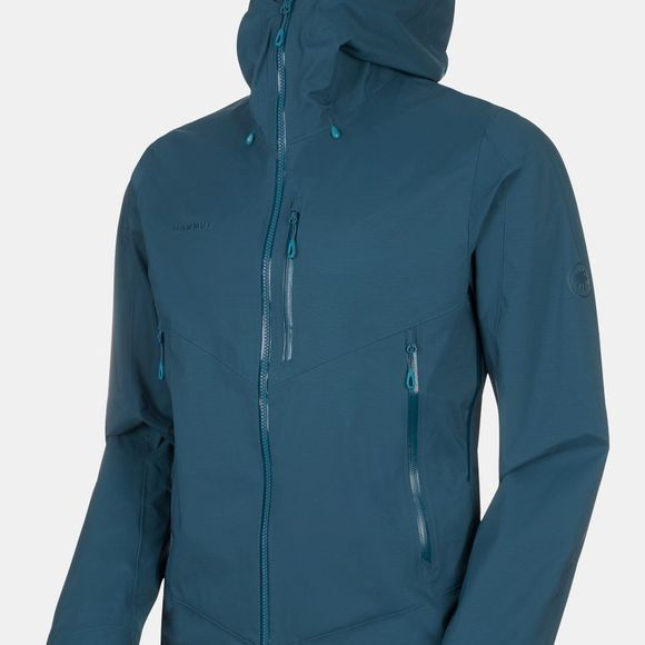Mammut Mens Kento HS Hooded Jacket  Wing Teal
