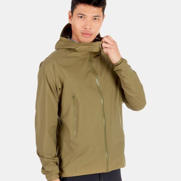 Mammut Mens Masao Light HS Hooded Jacket Olive