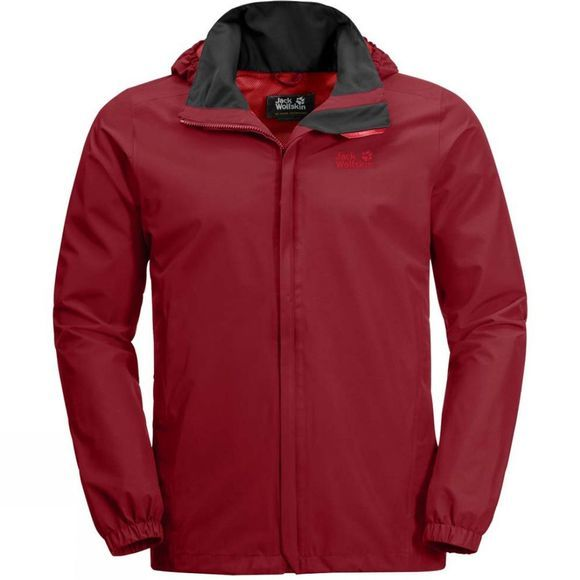 Jack Wolfskin Mens Stormy Point Jacket Red Maroon