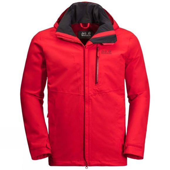 Jack Wolfskin Mens Keplar Trail Jacket Peak Red