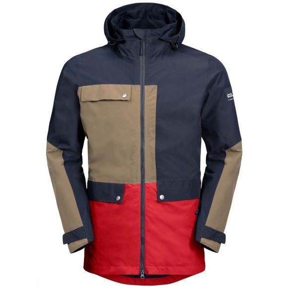 Jack Wolfskin Mens 365 Influencer Jacket Night Blue Peak Red